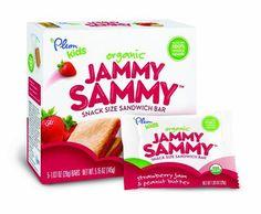 Plum Kids Organic Jammy Sammy, Strawberry Jam and Peanut Butter, 5.15 Ounce - http://goodvibeorganics.com/plum-kids-organic-jammy-sammy-strawberry-jam-and-peanut-butter-5-15-ounce/