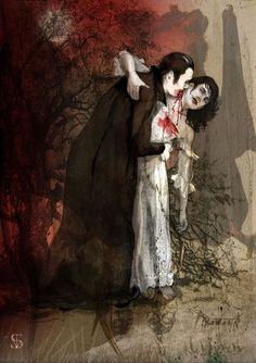 Vampire Stories, Vampire Art, Vampire Girls, Vampire Pictures, Night Walkers, Beautiful Dark Art, Legends And Myths, Creatures Of The Night, Vintage Horror