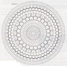 #crochetdoily #crochetpattern #crochetchart