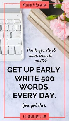The Magic of Getting Up Early and Writing 500 Words If you're a writer or a… Writing Advice, Blog Writing, Creative Writing, Writing A Book, Writing Prompts, Writing Plan, English Writing, Writing Practice, Journal Prompts