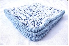 Blue Baby Blanket Crochet Baby Blankets Chenille Baby by CCBR2014