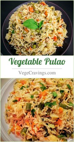 Vegetable Pulao is a Indian one pot meal made with rice, assorted vegetables and aromatic spices.