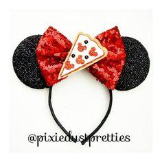 Items similar to Pizza Ears on Etsy Diy Disney Ears, Disney Mickey Ears, Disney Bows, Disney Day, Mickey Mouse Ears, Minnie Mouse Headband, Disney Crafts, Handmade Items, Pizza