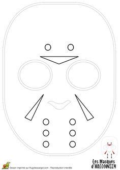 A colorier, le masque à deux têtes pour Halloween
