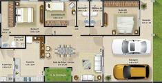 Plano de planta #casasmodernasdeunaplanta