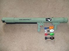 Picture of Airsoft Anti-Aircraft Style Coaxial PVC Launcher Pvc Projects, Projects To Try, Pistola Nerf, Air Cannon, Nerf Mod, Homemade Weapons, Airsoft Gear, Paintball, Planer
