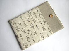 Fishes MacBook sleeve 13 with pockets MacBook Pro by LinenSleeve, $24.00