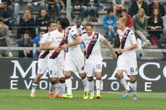 Agim Ibarimi # 10 of Cagliari Calcio celebrates after scoring a goal from the penalty spot  during the Serie A match US Sassuolo Calcio and ...