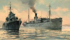 orp garlandORP GERLAND i WARSZAWA ORP GERLAND w dniach 18 i 19 sierpnia 1940 roku eskortował na wschodniej części Morza Śródziemnego polski statek pasażersko-transportowy WARSZAWA wiozący z Mesyny (Sycylia) do Hajfy (Palstyna) ochotników do Brygady Karpackiej.