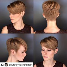 """375 Likes, 7 Comments - LOSE YOUR LOCKS  (@chopitoff) on Instagram: """"✂️✂️✂️ @courtneyxcentrichair . . . . #pixie #pixiecut #girlswithshorthair #shorthairdontcare…"""""""