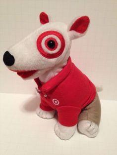 Target Bullseye Dog Plush Toy Stuffed Animal Bull Terrier Employee
