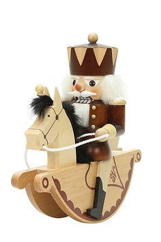Nutcracker Horse Rider King natural colors (23cm/9in) by Christian Ulbricht