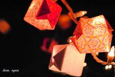 valentine origami box lighted garland 5.