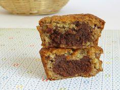 Vegan, Cane Sugar Free | Chocolate Stuffed Banana Muffins from Hello, Veggy