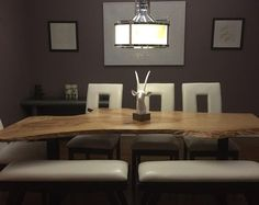 Leben Sie Rahmentabelle, Holzscheibe Tabellen, Live Edge Möbel, Live Edge  Schreibtisch Holz Sitzungssaal