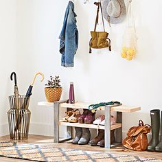 Build this bench and place it conveniently by an entry to put on or remove shoes. Then store those shoes on the handy shelf underneath. The natural wood look of this DIY project lets you customize it to suit any decor.