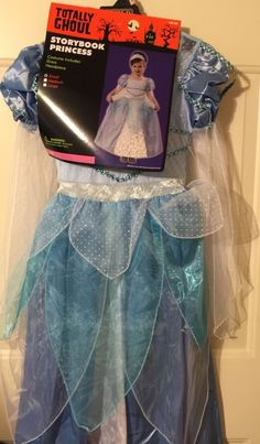 Storybook Princess Costume Cinderella Size Small With Trick A Treat Pail Disney #TotallyGhoul #Dress
