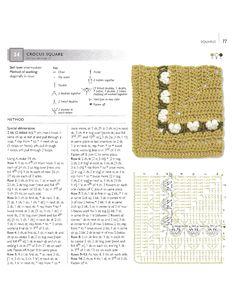 Diy Crochet Granny Square, Crochet Squares, Granny Squares, Crochet Chart, Crochet Motif, Afghan Crochet, Crochet Ideas, Image Sharing Sites, Afghan Blanket