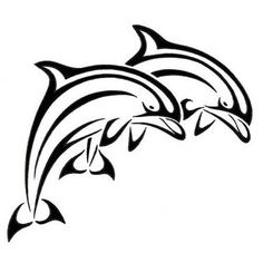Two Tribal Dolphins Tattoo Design Tribal Dolphin Tattoo, Tattoo Drawings, Art Drawings, Dolphin Drawing, Tattoo Samples, Dolphins Tattoo, Arte Tribal, Desenho Tattoo, Beste Tattoo