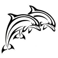 Two Tribal Dolphins Tattoo Design Tribal Dolphin Tattoo, Tattoo Drawings, Art Drawings, Dolphin Drawing, Tattoo Samples, Dolphins Tattoo, Hand Tattoos, Arte Tribal, Desenho Tattoo