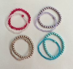 Stocking Stuffers / Teen and  Girls Bracelets / Stretch Bracelets by Humbleandkind on Etsy