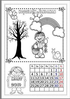 2019 Takvimi Çiğdem Öğretmen Crafts For Kids, Arts And Crafts, Snowflake Pattern, Snowflakes, Coloring Pages, Preschool, Black And White, Activities, School