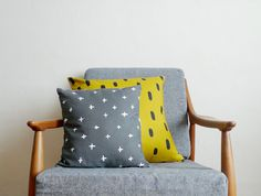 I love these Patterned Linen Pillows from Cotton & Flax