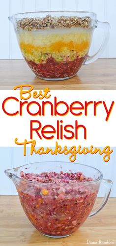 This is the best fresh cranberry relish recipe you will ever make. It's ideal when you make it 48 hours before your Thanksgiving meal. Thanksgiving Side Dishes, Thanksgiving Recipes, Fall Recipes, Holiday Recipes, Christmas Recipes, Thanksgiving Fruit, Thanksgiving Quotes, Christmas Desserts, Holiday Ideas