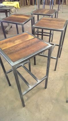 a backless hudson & co. built with steel and reclaimed wood by #metalfreddesigns