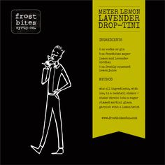 Recipe: Meyer Lemon Lavender Drop-tini