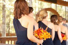 Orange & Navy Blue Wedding at Amber Springs| Photo by: jwbaugh.com