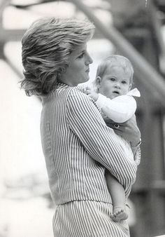 Princess Diana and Prince Harry as an infant