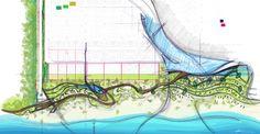 Landscape design sketch (M_oplado 2017/ Metrostudio)