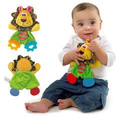 아기 유아 귀여운 사자 봉제 장난감 편안함을 수건 사운드 종이 Teether 개 부드러운 달래기 장난감 놀이 진정 인형