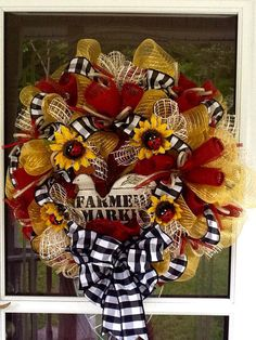 Summer Rooster Wreath by WreathsEtc on Etsy