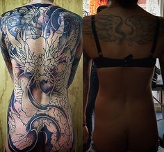 Amsterdam TATTOO 1825 KIMIHITO  Cover up Back piece tattoo Dragon