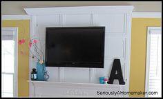Hiding flat screen cords in trim