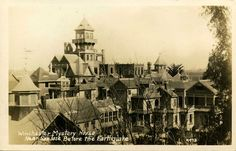 """San Jose's Winchester Mystery House, built and owned by gun magnate widow Sarah Winchester until 1922, claims to be a haunted location. """"There have been numerous reports of paranormal activity, by both guests and employees. Psychics have said that there are three spirits currently residing in the mansion,"""" the estate's website indicates."""