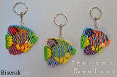 Fish-angel bead scheme, the scheme keychain brick weave master class on fish Bead