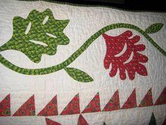 Antique Applique Quilt 1850's Virginia | eBay