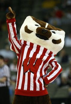 OMAHA, NE - MARCH 20:  Bucky the Badger, mascot for the Wisconsin Badgers performs against the Cal State Fullerton Titans during the Midwest Region first round of the 2008 NCAA Men's Basketball Tournament on March 20, 2008 at the Qwest Center in Omaha, Ne