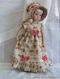"13"" Effner Little Darling BJD fashion rosebuds Regency OOAK handmade by JEC"