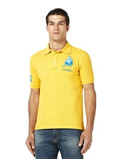 Automobili Lamborghini Mens Bull Lxlll Polo Shirt L Lemon  Lamborghini Official Product, sold by FiloBlu Srl - official partner of the Lamborghini Online Store  100% Cotton  Lamborghini's raging bull embroidery on the chest  Gabardine patch in Roman numerals with the print of the founding year on the sleeve.