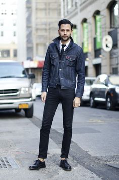 Denim + Denim = Bliss  #denimjacket #denim #jacket #men #style #sockless #cool