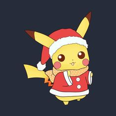 Check out this awesome 'Christmas Pikachu' design on Christmas Pokemon, Merry Christmas Text, Eevee Cute, Cute Pikachu, Pokemon Pumpkin, Happy Mothers Day Pictures, Chibi, Pumpkin Wallpaper, Cute Pokemon Pictures
