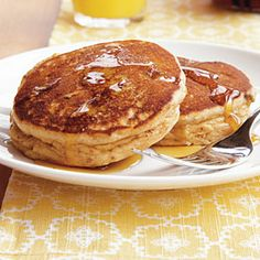 Peanut Butter and Banana Pancakes | CookingLight.com