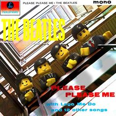 Classic Music Albums Recreated with Lego