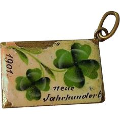 "Antique German Postcard Charm Clover ""New Century"" 1901.."