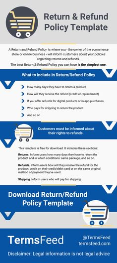 if you have an ecommerce store you should have a return and refund policy in