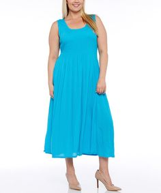 Turquoise Maxi Dress - Plus #zulily #zulilyfinds